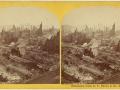 Великий пожар Бостона. 1872 год, США. Панорама разрушений
