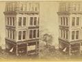 Великий пожар Бостона. 1872 год, США. Панорама разрушений от Вашингтон Стрит