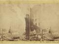 Великий пожар Бостона. 1872 год, США. Саммер Стрит. Вид на запад