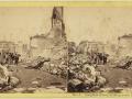 Великий пожар Бостона. 1872 год, США. Конгресс Стрит. Вид от Милк Стрит