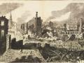 Великий пожар Бостона. 1872 год, США. Набросок вида на сгоревшие кварталы