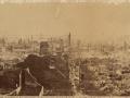 Великий пожар Бостона. 1872 год, США. Панорама от Вашингтон Стрит