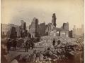 Великий пожар Бостона. 1872 год, США. Угол Перл и Милк Стрит
