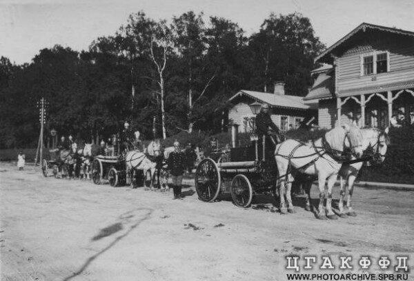 Пожарная команда в имении Ульянка