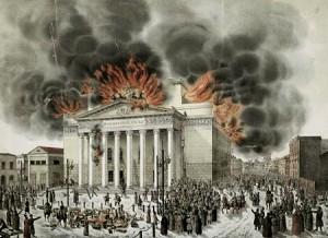 Пожар в Большом Театре 11 марта 1853 года