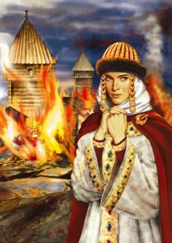 Месть княгини Ольги. Пожар в Искоростени