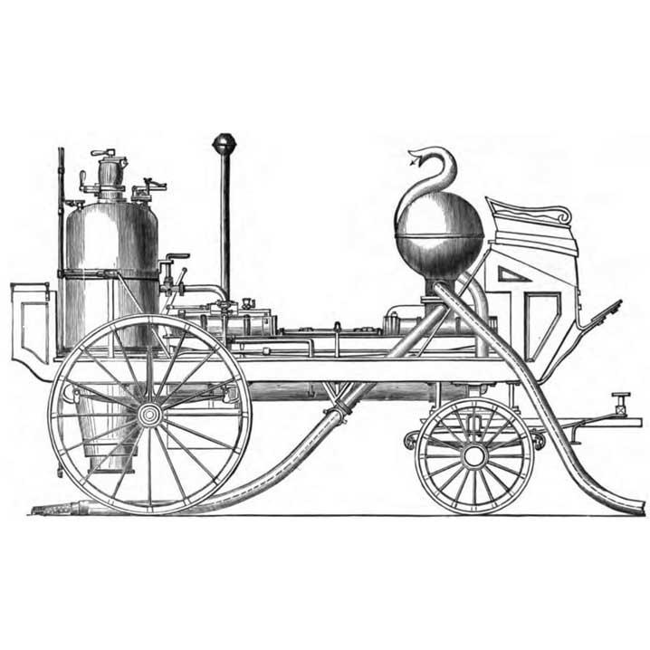 картинка первый автомобиль с паровым двигателем мост можно