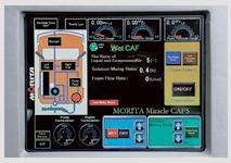 Органы управления системой CAFS интегрированы в сенсорную панель