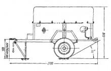 Рукавный прицеп РП-0,8 (704). 1950-1960-е годы