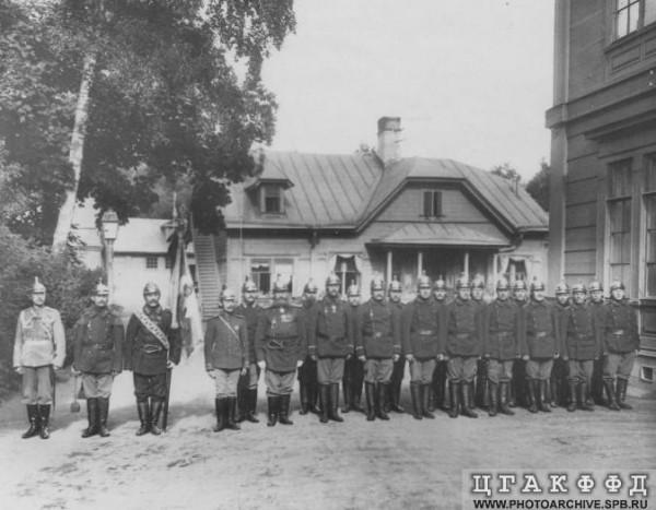 Пожарная команда с графом А.Д. Шереметьевым