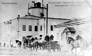 Пожарная каланча в Верхеудинске (Улан-Удэ), XIX век