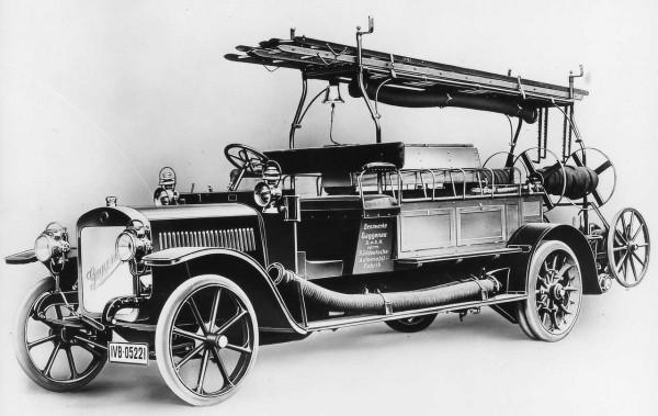 Пожарный автонасос Benz Grunewald, 1906 год
