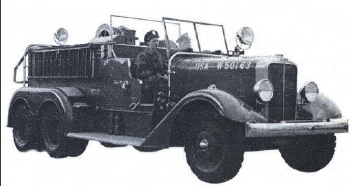 Военный аэродномный пожарный автомобиль Class 100, США, 1939 год