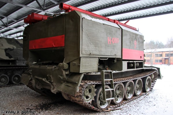 Гусеничная пожарная машина ГПМ-54. Военное-исторический музей в с. Ивановское