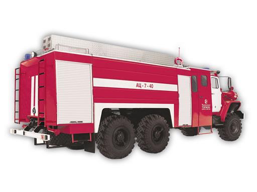 Пожарная автоцистерна АЦ-7-40 (Урал-4320-1912)