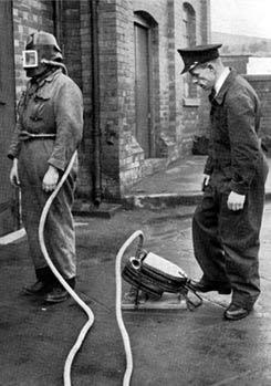 Подготовка дымового шлема Siebe Gorman