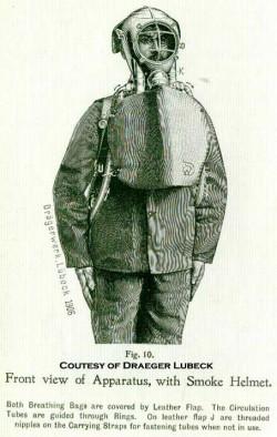 Дыхательный аппарат фирмы Драгер, 1903 год