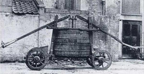 Ручной пожарный насос 17 века