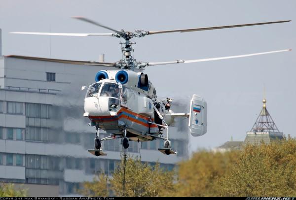 Пожарный вертолет Ка-32А1 со спусковым устройством Су-Р