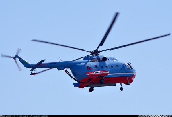 Пожарный вертолет Ми-14 ПЖ, эксплуатируемый в Ливии