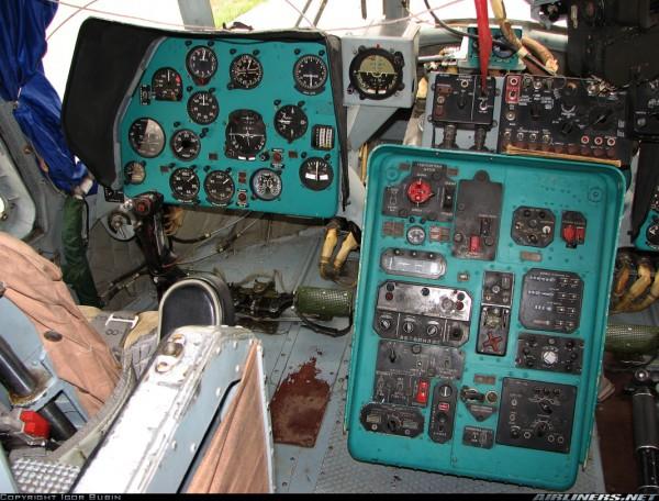Панель приборов пожарного вертолет Ми-14 ПЖ