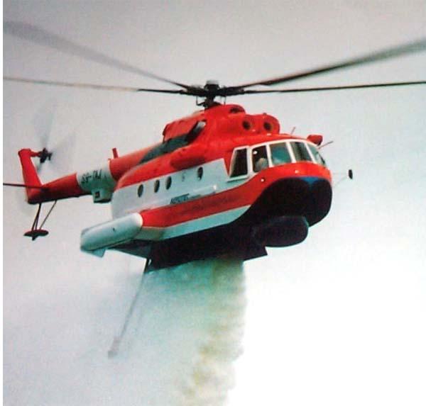 Пожарный вертолет Ми-14 ПЖ «Элиминатор». Сброс воды
