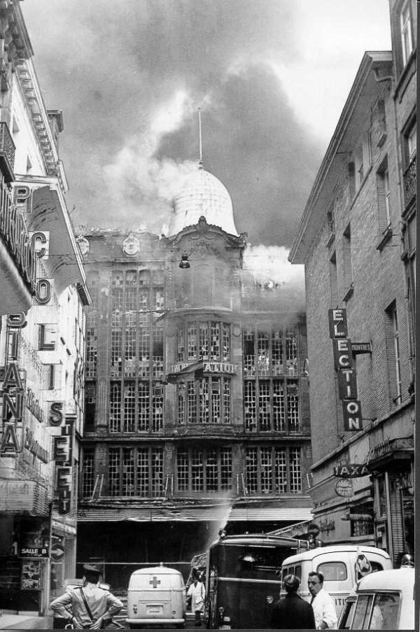 """Пожар в универмаге """"Инновасьон"""", Брюссель, Бельгия, 1967 год"""