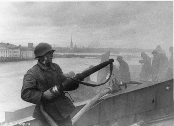 Тушение пожара. 1941 год