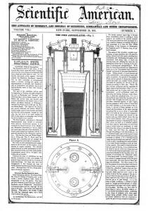 """""""Уничтожитель огня"""" (Fire Annihilator) Филипса. Иллюстрация из газеты """"Scientific American"""" от 20.09.1851"""