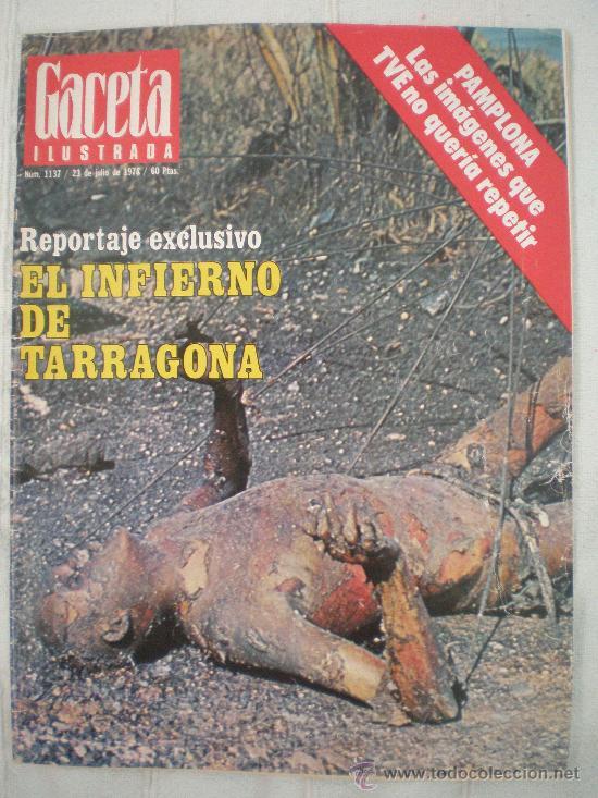 Передовица иллюстрированного журнала с репортажем об аварии