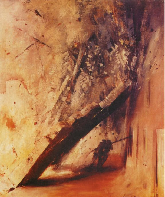 Леонард Розоман. Гибель пожарных. Англия, 1940 год