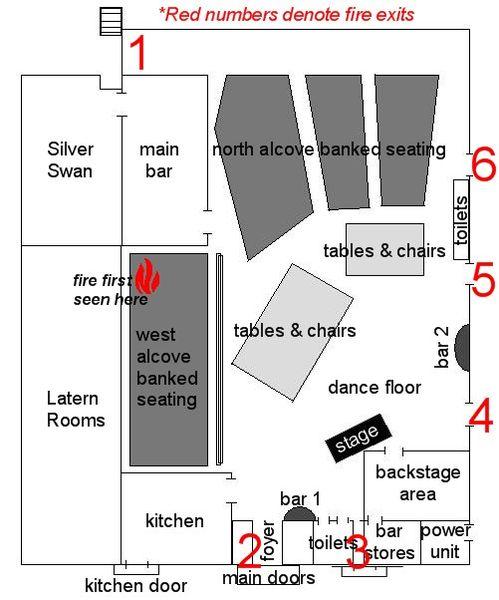 План помещений ночного клубе в отеле Стардаст