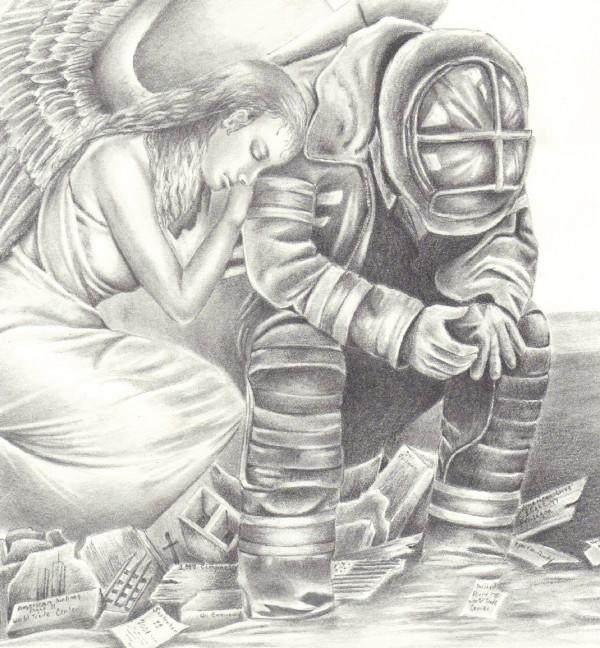 Ангел и пожарный. Фэн-арт пользователя paperdragon1967 (DevianArt)