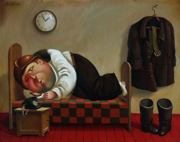 "Борис Иванов. Картина из цикла ""Планета толстяков: будни и праздники"""