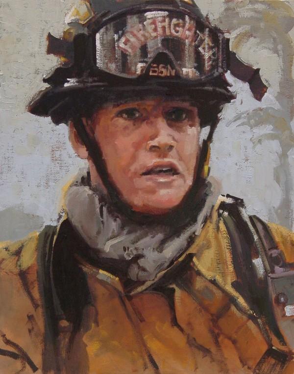 Сьюзан Смоленски (США). Портрет пожарного Джереми Слокума, 2010 год