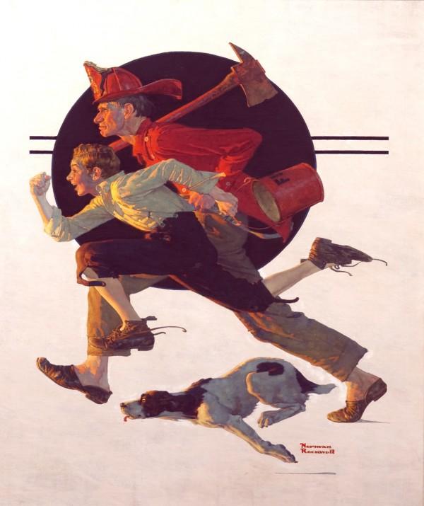 Норман Рокуэлл, Добровольный пожарный, США, 1931 год