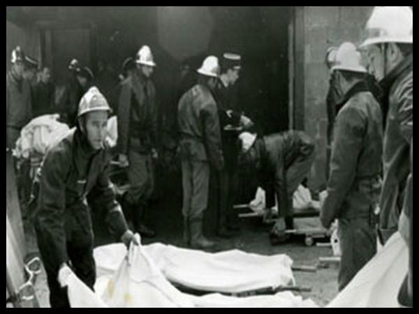 Жертвы пожара. Сен-Лоран-дю-Пон, Франция, 1 ноября 1970 г.
