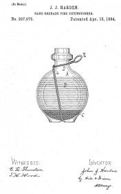 Огнетушащая граната Хардена. Иллюстрация из патента