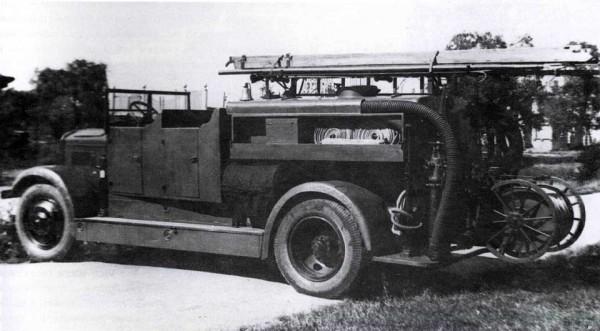Пожарная автоцистерная без крыши на шасси ЯГ-6