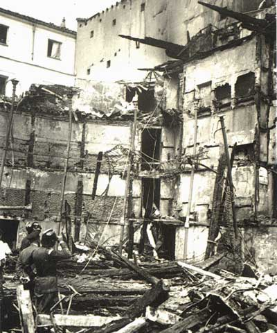 "Руины театра ""Новедадес"", Мадрид, Испания, 1928 год"