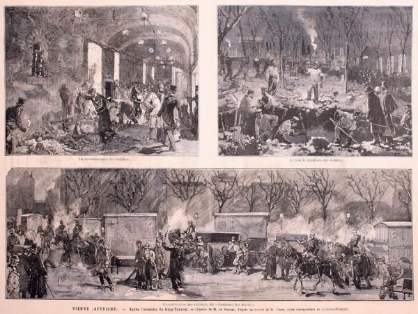 Пожар в Ринг-театре. Поиск и опознание погибших