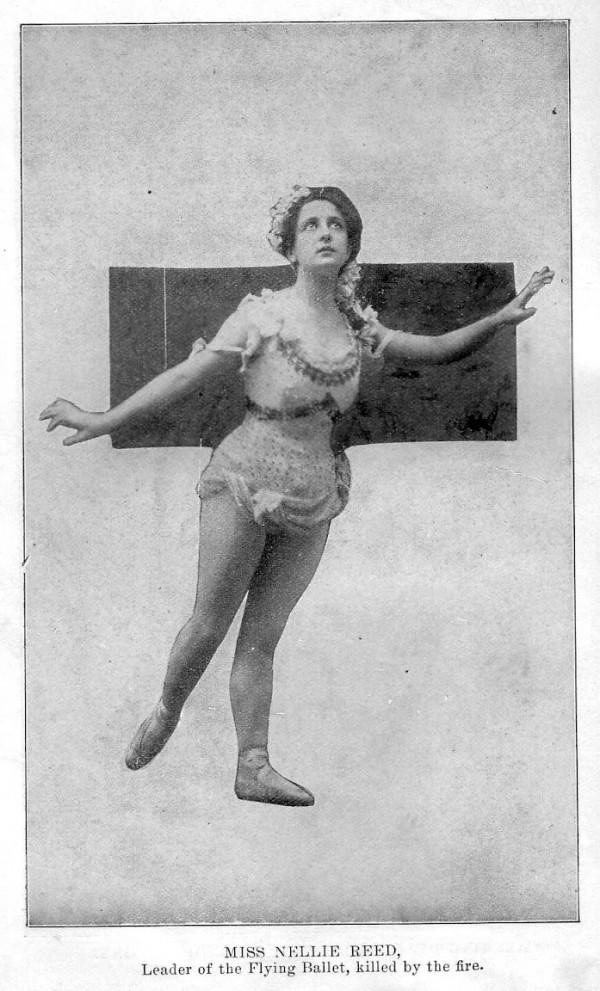 """Нелли Рид, солистка балета, погибшая во время пожара в театре """"Ирокез"""", Чикаго, США"""