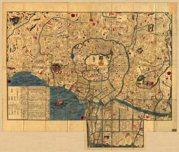Карта Эдо в 1844-1848 годах