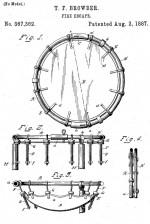 Патент на спасательную сеть Браудера 1897 года
