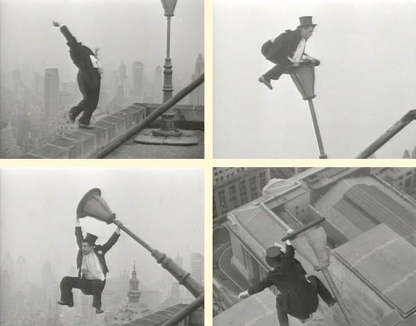 Трюки Йозефа Шпа во время работы цирковым акробатом