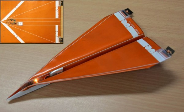 Концепт одноразового беспилотника в виде бумажного самолетика