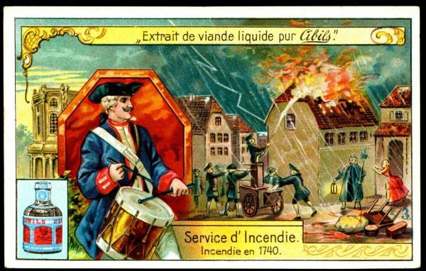 Пожарная служба. Пожар в 1740 году