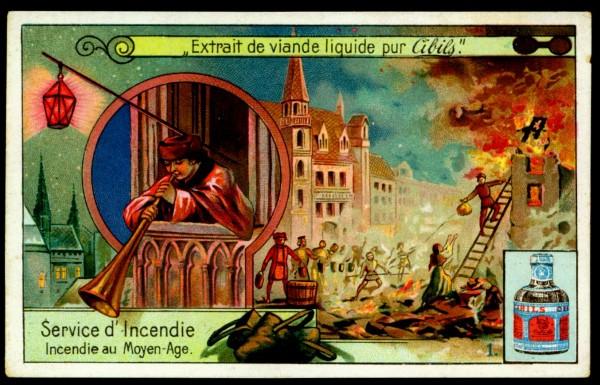 Пожарная служба. Пожар в средние века