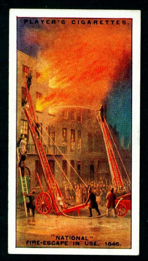 """Пожарные лестницы """"National"""" в действии, 1846 год"""