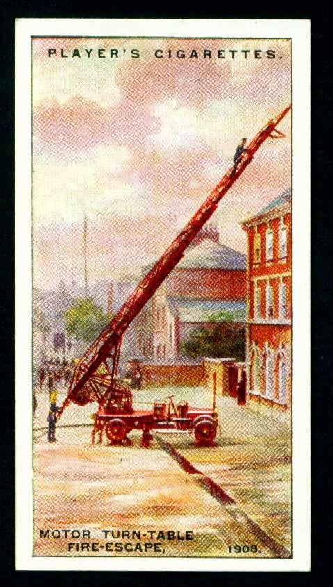 Моторизованная поворотная пожарная лестница, 1908 год
